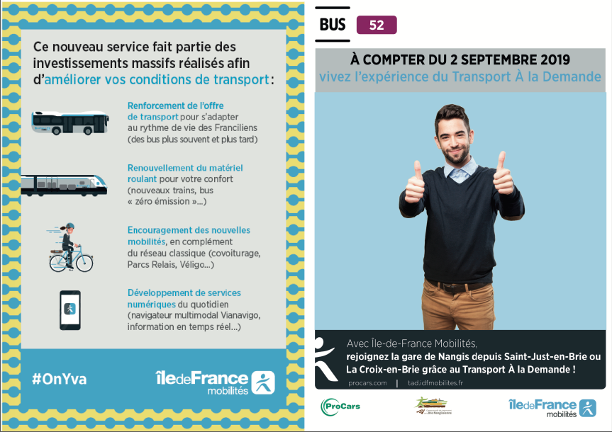 Flyer recto de la ligne 52